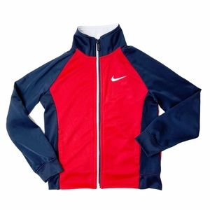 Nike navy and red track jacket